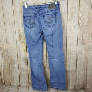 Silver Jeans Suki Mid Slim Boot Womens Size 28